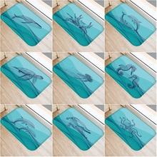 Mavi alt küçük hayvan kaymaz yatak odası dekoratif halı mutfak zemin oturma oda zemin matı banyo kaymaz Mat 40x60cm.