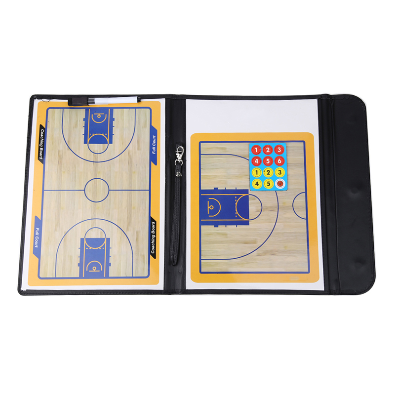 Professional Tactical Board  Basketball Coaching Double-side Dry Erase Coaches Clipboard Tactical Board Basketball Accessories