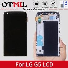 Оригинальный дисплей 5,3 дюйма для LG G5 H850, ЖК сенсорный экран с рамкой, дигитайзер, бесплатные инструменты, сменный экран для LG G5 LCD