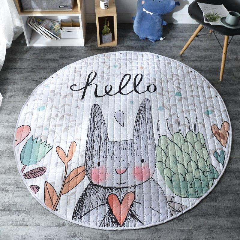Nouveau tapis rond pour bébé tapis d'escalade tapis de jeu pour bébé tapis de couchage doux pour tout-petit tapis de dessin animé pour bébé tapis rampant pour enfants tapis de jeu décor à la maison
