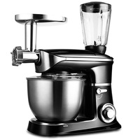 Cooking Machine Electric Meat Grinder Juicer Bread Mixer Eggs Blender Home 3 in 1 Automatic Kneading Dough Maker