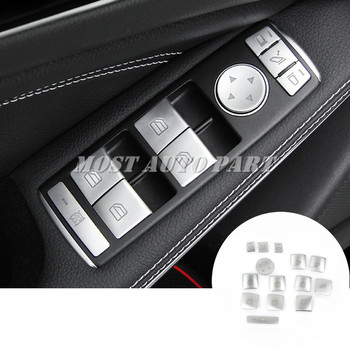 Inner Door Window Switch Button Trim Cover 14pcs For Benz CLA W117 C117 X117  2013-2018