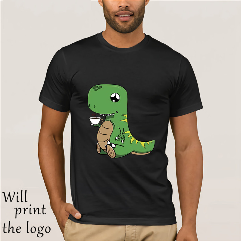 CUTE DINOSAUR T SHIRT TEA T-REX PUN JOKE image