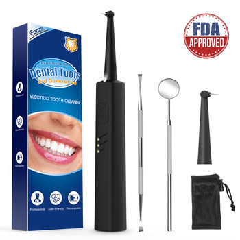 Dental calculus remover, Electric Portable Oral Irrigation teeth whitening Tartar Scraper Health Hygiene Dropping Greenish Blue