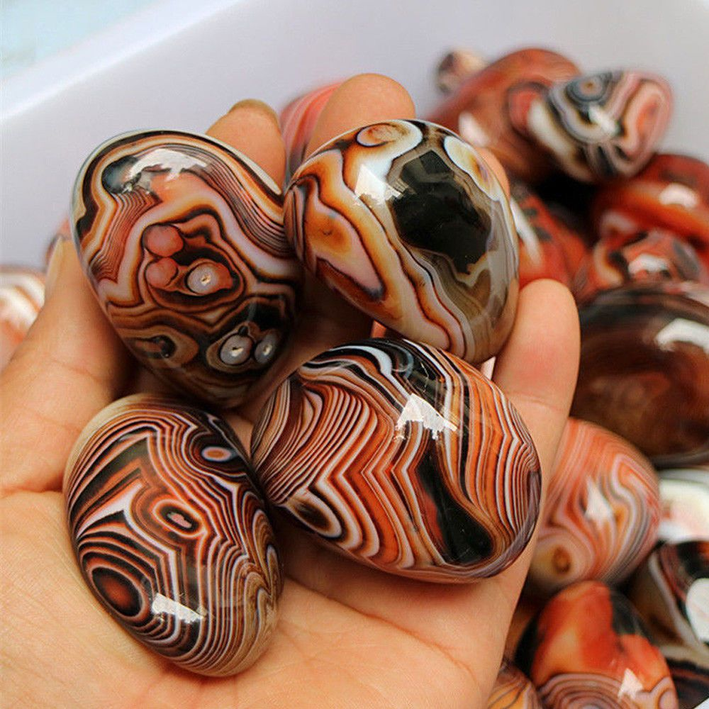 5pcs Factory Price Natural Agate Stone Good Luck Madagascar Banded Agate Body Heathy Raw Gemstone Specimen Collection Gift Figurines Miniatures Aliexpress