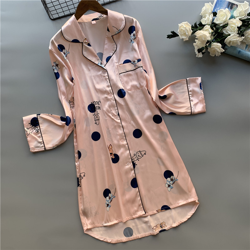 QWEEK Satin Sleepwear Nightdress Silk Nightwear Nightgown Women Plus Size Sleeping Dress Summer Sleep Wear Nighty For Ladies