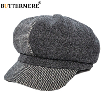 Шерстяная кепка BUTTERMERE Newsboy, Женская Лоскутная твидовая Кепка Габби Бейкер для мальчика, шерстяная Женская Осенняя зимняя винтажная шапка