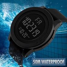 2021 Relojes hombres reloj Digital blanco deporte reloj de 50M resistente al agua de fecha reloj masculino Digital relojes militares de hombres deporte