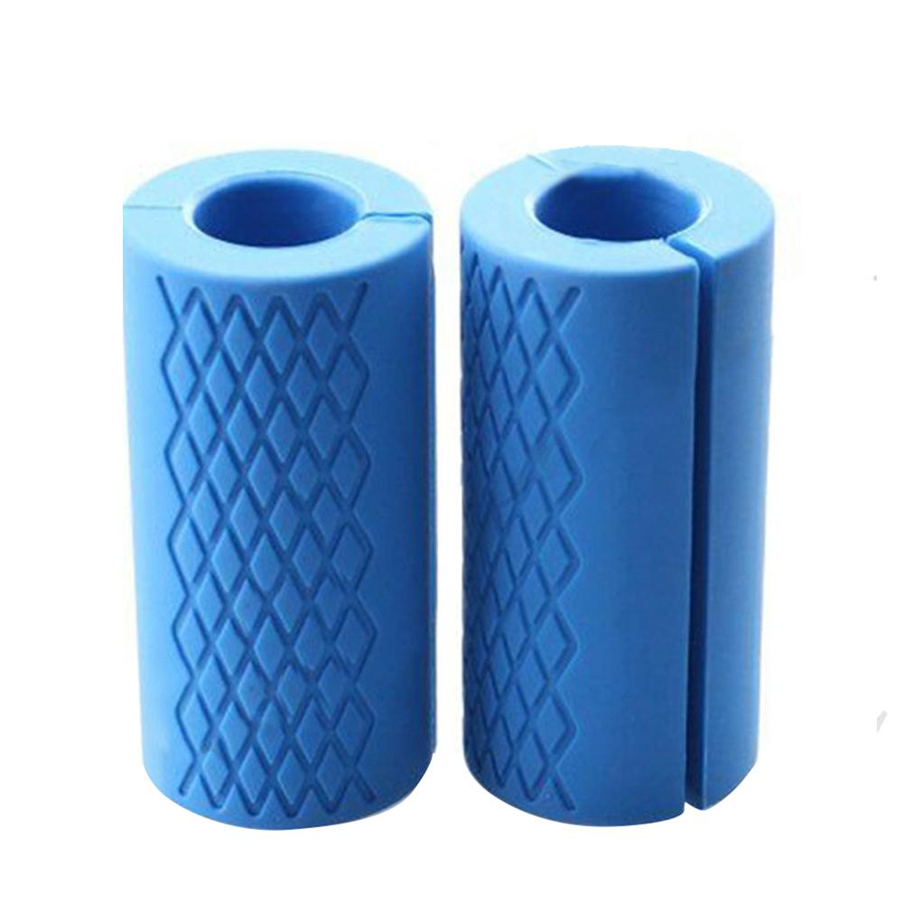 1 Pair Barbell Bar Dumbbell Kettlebell Fat Grips Silicone Thick Handle Pad