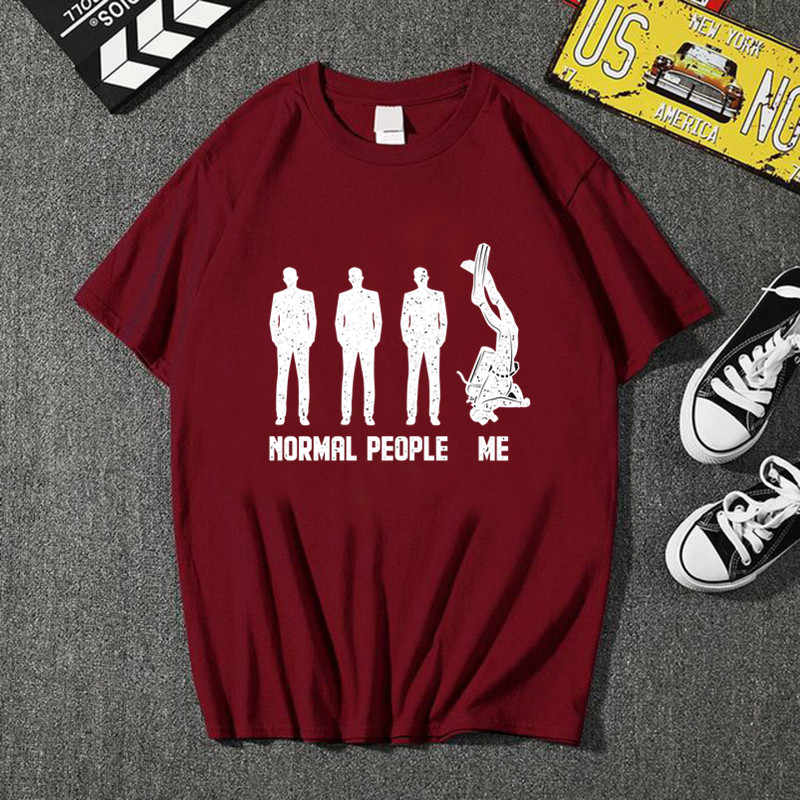 2020 おかしい逆さまデザインの通常人私スキューバダイビング tシャツ男性スキューバダイバー tシャツダイビングスイマー愛好家 tシャツシャツ