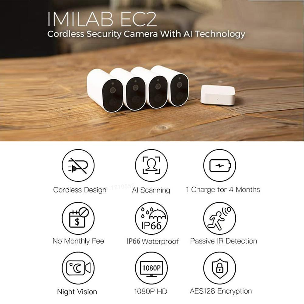 Closeout DealsXiaomi Alarm Battery Voice-Intercom Imilab Ec2 Remote Outdoor Global-Version Waterproof