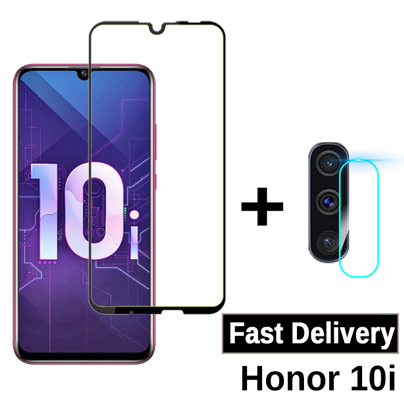 2-in-1 Protective Glass For Huawei Honor 10i Camera Screen Protector On Honer Honoe 10i HRY-LX1T Tempered Glass 6.21 Inch