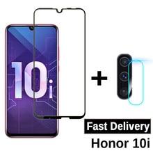 2-in-1 szkło ochronne dla Huawei Honor 10i osłona ekranu aparatu na Honer Honoe 10i HRY-LX1T szkło hartowane 6.21 cal