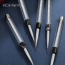 ROHWXY набор кистей для нейл-арта, 15 шт., гелевая акриловая кисть для ногтей, инструмент для дизайна ногтей, для маникюра, рисования, ручка, кисть для ногтей с эффектом омбре