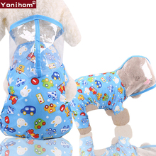 Hooded Rain Coat for Dogs Waterproof Dog Raincoat with Hood Transparent Pet Puppy Clothes Supplies