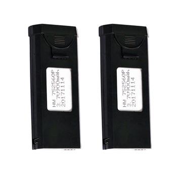 2 unids/lote LiPo batería para VISUO XS809 XS809W XS809HW XS809S RC Drone partes 3,7 V 900mAh 752560P batería para aviones RC XS809W