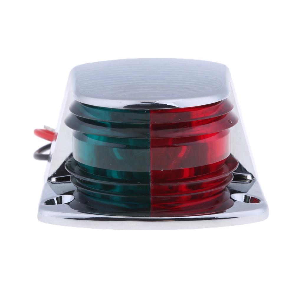 Marine Lights Bow Navigation Lights Bi-Color Red & Green Lens Signal Lights