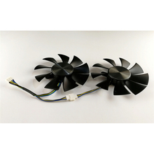 Four-Wire Temperature Control Fan For ZOTAC GTX960 GTX1060 GTX1070 Graphics  Card 12V 0 35A 0 5A Dual Fan with Metal Tag