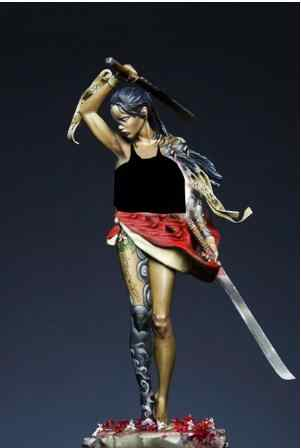 Unassambled 1/24 75 MILLIMETRI Beautifull warrior Morte 75 millimetri figura In Resina modello in miniatura kit Non Verniciata