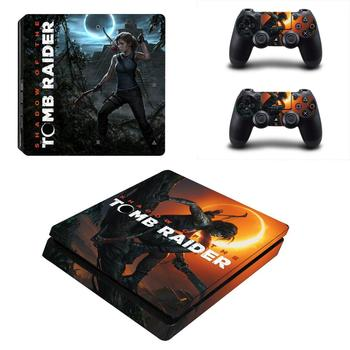 Shadow of the Tomb Raider PS4 Slim Sticker Play station 4 Skin Sticker Decal For PlayStation 4 PS4 Slim Console& Controller Skin 1