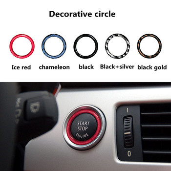 Car Engine Start Stop Switch Button Replace Cover for BMW 1 3 5 Series E87 E90 / E91 / E92 / E93 E60 X1 E84 X3 E83 X5 E70 E71 image