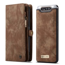 CaseMe Magnetic Wallet Case Luxury Original Leather Multifunction Flip For Samsung Galaxy A80 Phone KS0289