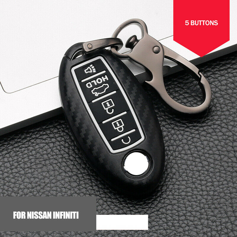 Carbon Fiber ABS Car Key Fob Case for Nissan Rouge Pathfinder Maxima Altima SENTRA for Infiniti Q50 Q60 QX80 Accessories