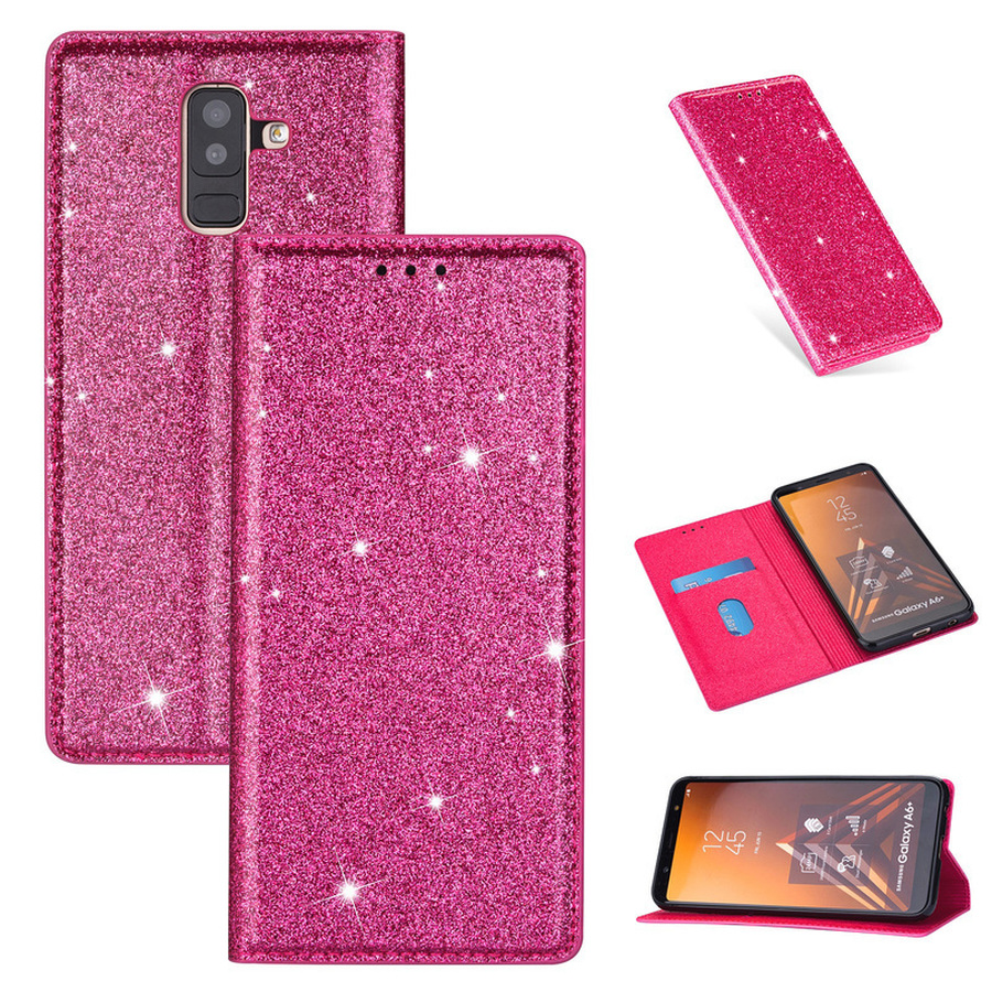 PU <font><b>Leather</b></font> Glitter <font><b>Flip</b></font> <font><b>Case</b></font> for <font><b>Samsung</b></font> A20 A10 A30 <font><b>A50</b></font> A40 A70 A20E <font><b>Wallet</b></font> Card <font><b>Stand</b></font> Cover for <font><b>Galaxy</b></font> A6 Plus A7 A8 2018 Capa image