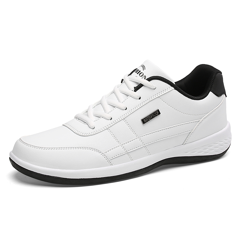 Spring Autumn Men Shoes For Men Casual Shoes Breathable Lace Up Mens Casual Shoes Leather Sneakers Fashion Men LD C8001