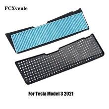 Für Tesla Modell 3 2021 Zubehör Auto Klimaanlage Lufteinlass Schutzhülle Einlass Luftstrom Filter Dekoration Streifen