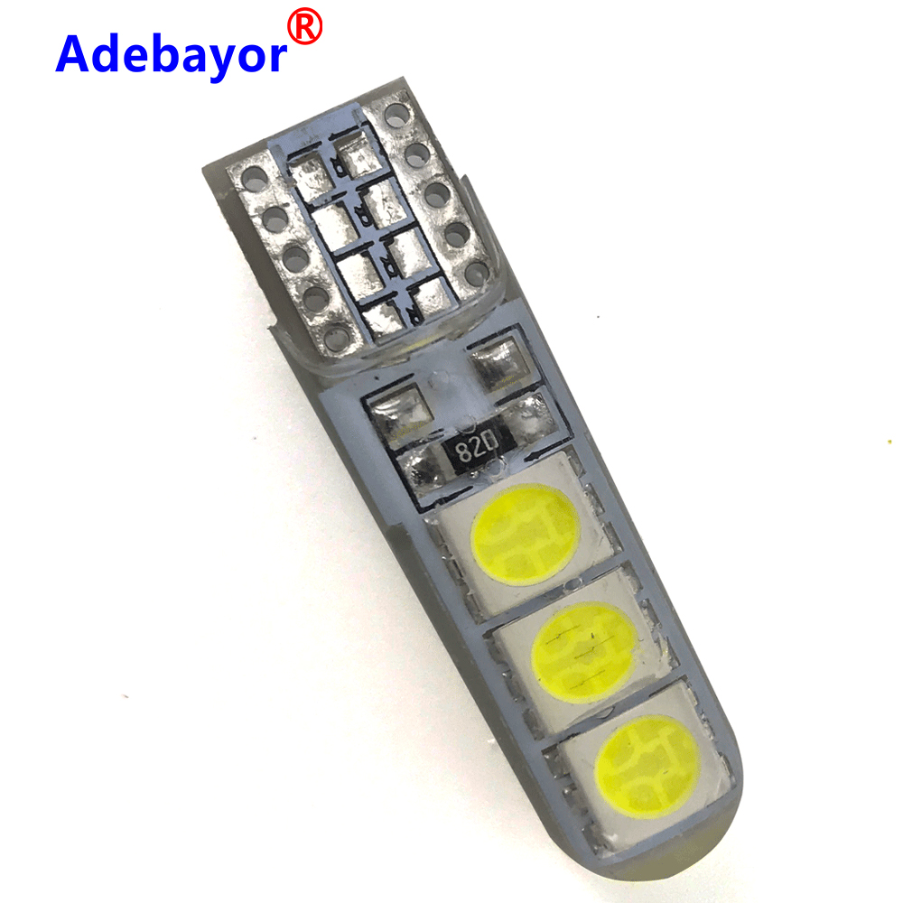 <font><b>100X</b></font> High Bright W5W <font><b>T10</b></font> 5050 SMD 6 LED Waterproof Canbus Car Wedge Light Automobile Clearance Lights Signal Lamp 12V adebayor image