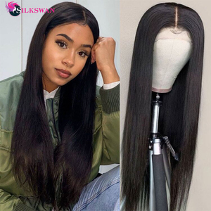 Silkswan Lace Front Human Hair Wigs Straight Brazilian Natural Frontal Wigs 28 30 40 inch HD Pre Plucked Wigs For Black Women