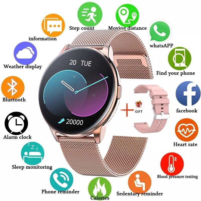 LIGE Fashion Smart watch Men Heart rate Blood pressure Multi-function Sports watch For Men and Women waterproof Smartwatch Men