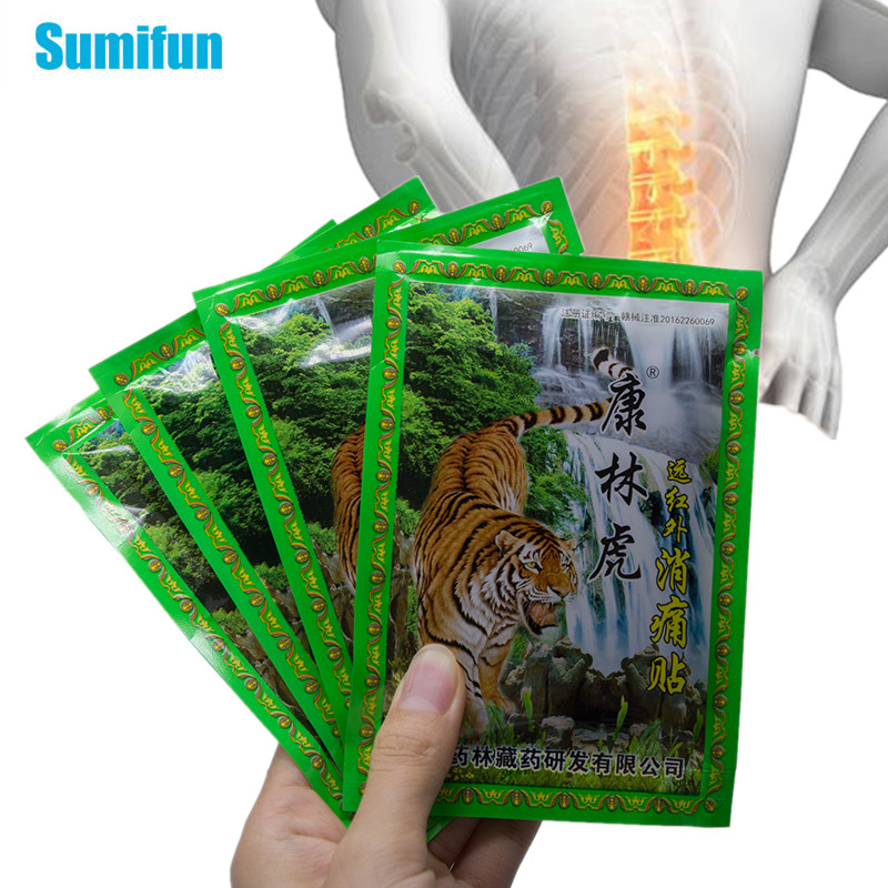 8pcs Tiger Balm Arthritis Pain Patch Back Neck Muscle Sprain Medical Plaster Joints Painkiller Herbal Sticker Health Care C1489