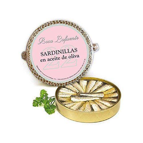 """Sardinillas En Aceite De Oliva """"Rosa Lafuente"""" (22 Unidades) - De Las Rías Gallegas - Producto Del Mar 100% Natural Y Artesanal"""