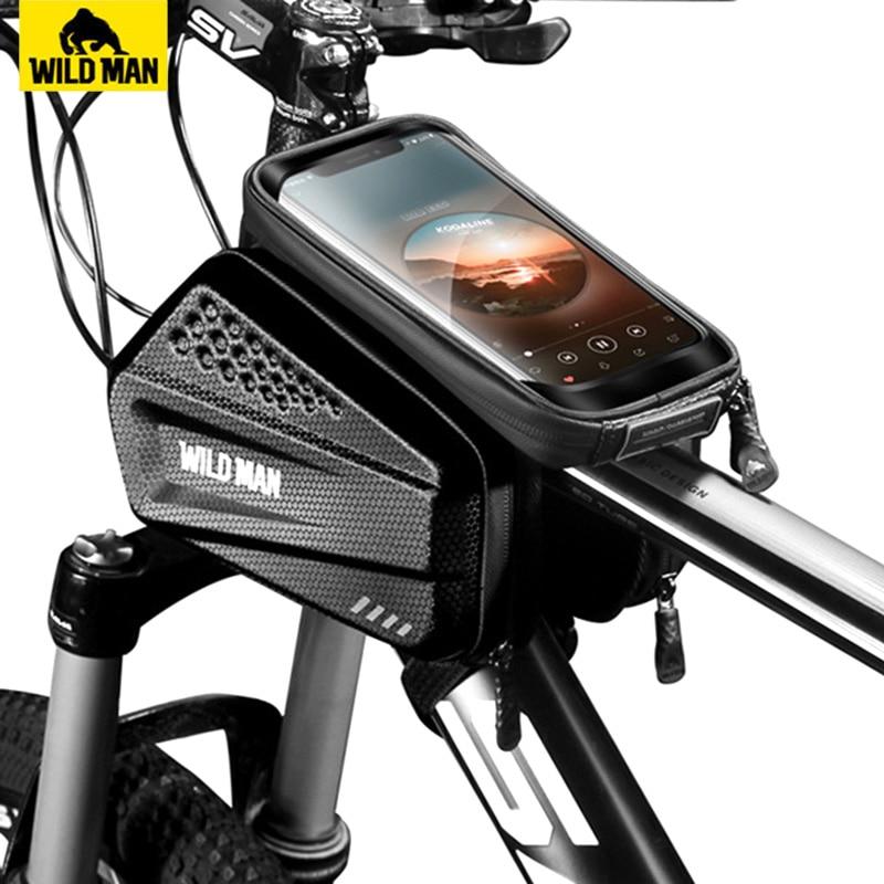 Cuadro de la Bicicleta a Prueba de Agua Bolsa de Accesorios de la Bici de monta/ña por m/óvil Dentro de 6,4 Pulgadas yidenguk Manillar de la Bici Bolsa