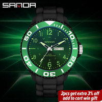 SANDA Mode Männer Quarzuhr männer Ultra Dünne Uhren Business Armbanduhr Outdoor Sport Uhr Mann Mit Datum Reloj Hombr 6051