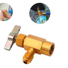1pc klimatyzator samochodowy napełnianie czynnika chłodniczego zawór do otwierania butelek Adapter do tankowania narzędzie do kondycjonowania tanie tanio CN (pochodzenie) metal Bottle opener 3 5cm Bottle Opener Adapter 2019 5 5cm
