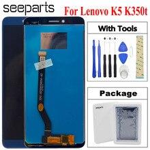 """100% اختبار 5.7 """"لينوفو K5 K350T k350 T شاشة الكريستال السائل مجموعة المحولات الرقمية لشاشة تعمل بلمس استبدال لينوفو K350t LCD"""