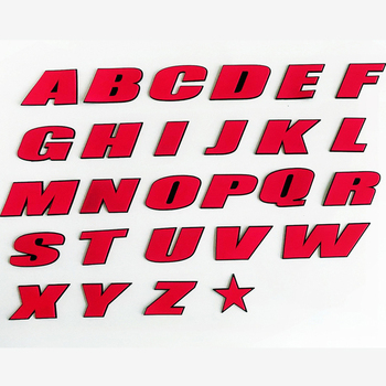 PVC Car Letter stickers English letters and numbers Sticker Logo Car tire Stickers Auto Accessories Stickers image
