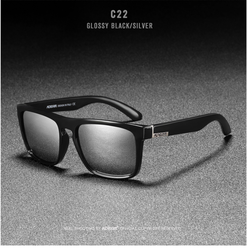 He9caa8e5516946b3a20845dc4a3e8d74J - New KDEAM Mirror Polarized Sunglasses Men Ultralight Glasses Frame Square Sport Sun Glasses Male UV400 Travel Goggles CE X8