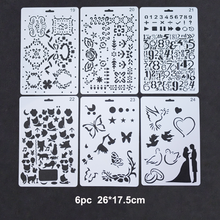 6pc Butterfly Stencils DIY Wall Painting Scrapbooking Stamping Album Decorative Embossing Paper Template Bullet Journal Stencil butterfly reusable stencil for scrapbooking stamping embossing paper card drawing template stencil crafts bullet journal stencil