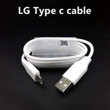 Lg original 100cm tipo a para tipo c cabo de dados de carregamento rápido para lg g7 thinq g6 g5 v10 v20 v35 v30 q6 telefone móvel linha redonda