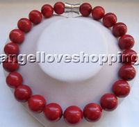 HUGE 20mm round sea bamboo coral necklace magnet clasp marking supply