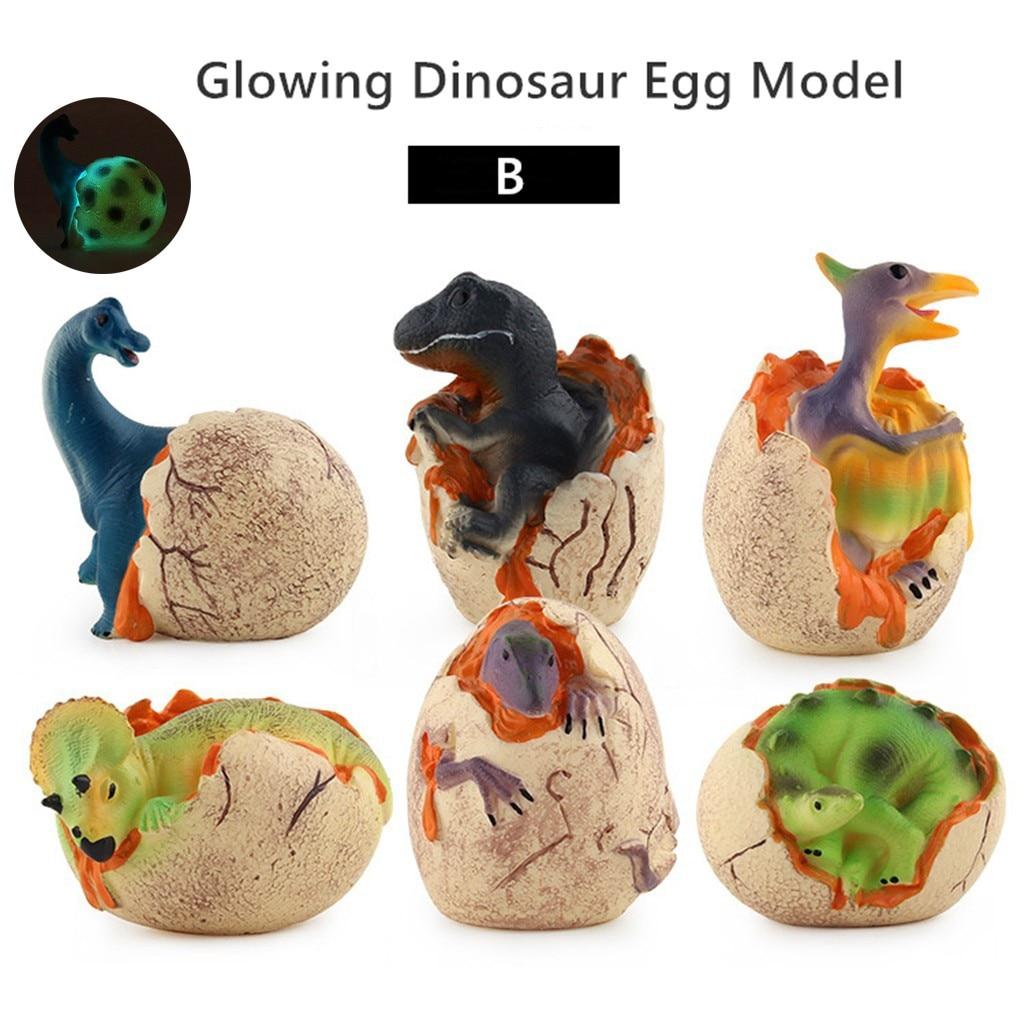 Novelty Simulation Glowing Dinosaur Egg Light Model Children's Toys Gifts Biology Animal Toy Cartoon Child Baby Favor Toy