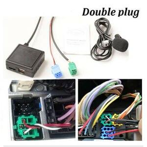 Автомобильный радиоприемник Bluetooth, аудиоадаптер, AUX кабель, гарнитура, микрофон 12 В, AUX аудио вход, функция для Renault