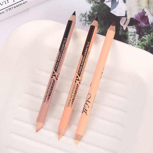 Professional Hot Sale Double Head Eyebrow Pen Eye Liner Pencil Concealer Stick Pencil Long Lasting Makeup Cosmetics tool 1