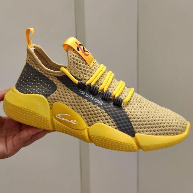 Zapatillas de tenis transpirables para Hombre, zapatos masculinos ligeros y originales, color blanco, para caminar, talla grande, 2021 2