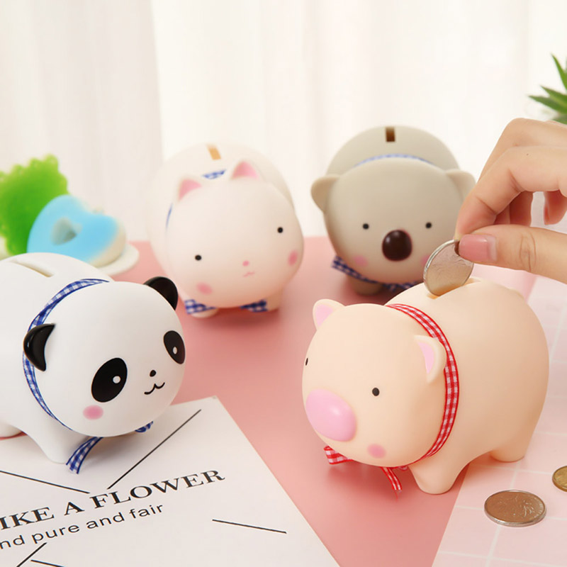 Permalink to Money Saving Case Piggy Bank Home Decor Children Toys Money Boxes Cartoon Pig Shaped Birthday Gift Coins Storage Box 1piece