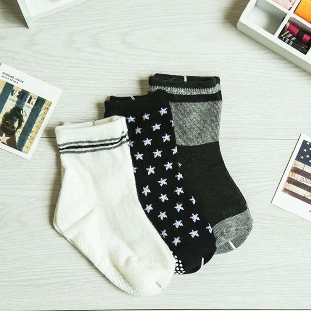 12 Pairs Baby Toddler Kid Sock Boy Girl Non Skid Anti Slip Knit Ankle Grip Sock 4